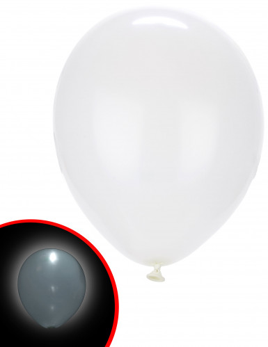 5 Ballons LED blancs Illooms ®
