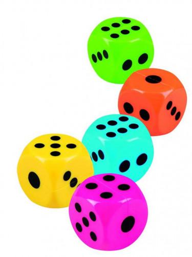 5 Dés colorés pour piñata 2.5 cm