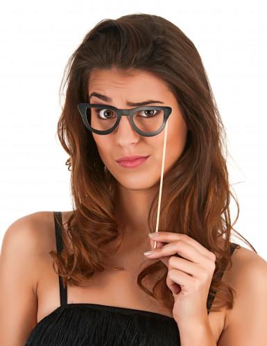 Kit photobooth 6 lunettes noires-2