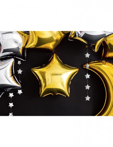 Ballon aluminium étoile dorée 45 cm-4