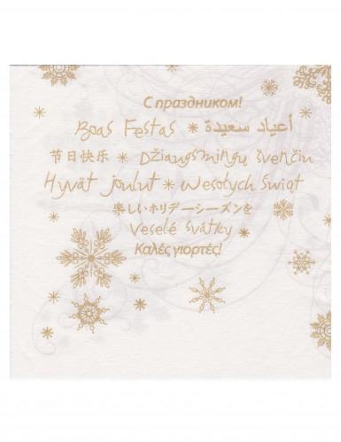 12 Serviettes en papier intissé Premium Joyeuses fêtes 40 x 40 cm-1