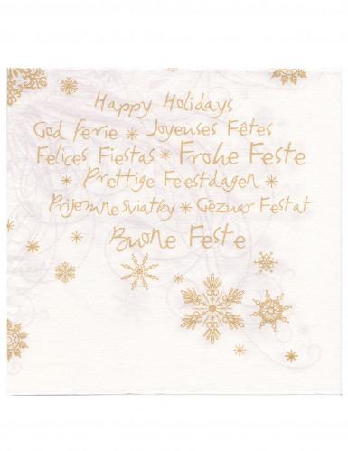 12 Serviettes en papier intissé Premium Joyeuses fêtes 40 x 40 cm