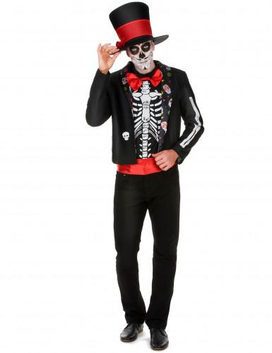 Déguisement Squelette motifs Dia de los muertos homme