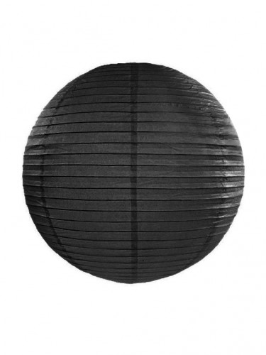 Lanterne japonaise noire 35 cm