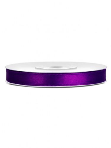 Ruban satin violet 0.6 cm x 25 m