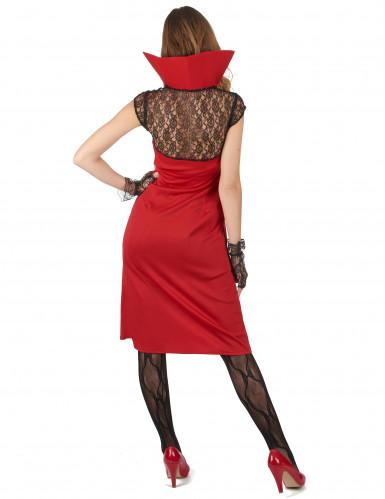 Déguisement vampire sexy rouge et noir femme -1