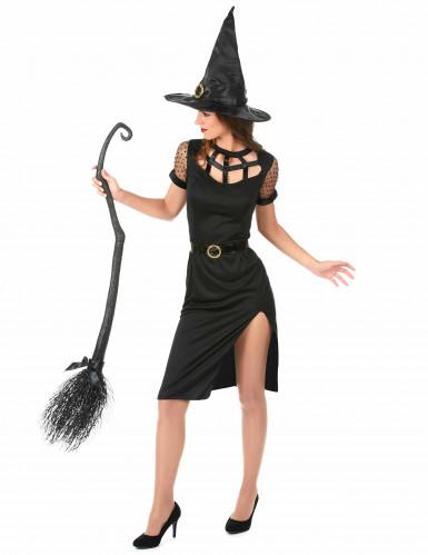 Déguisement Sorcière Sexy Noire Femme Halloween -1