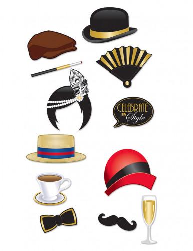 Kit photobooth années 20 12 accessoires