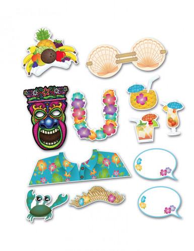Kit photobooth Hawaï 12 accessoires-1