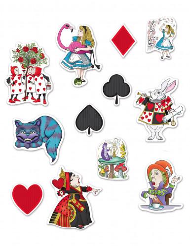 12 Décorations en carton Alice au pays imaginaire