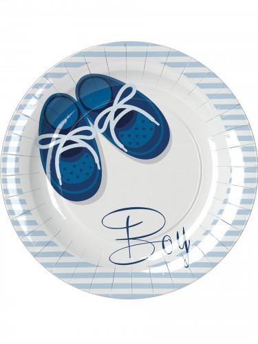 8 Assiettes en carton Baby Boy 23 cm