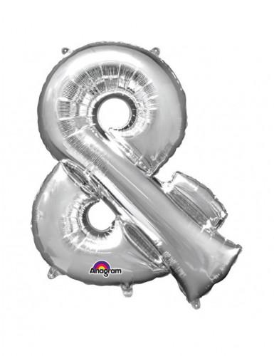 Ballon aluminium géant Symbole & argent 96 cm