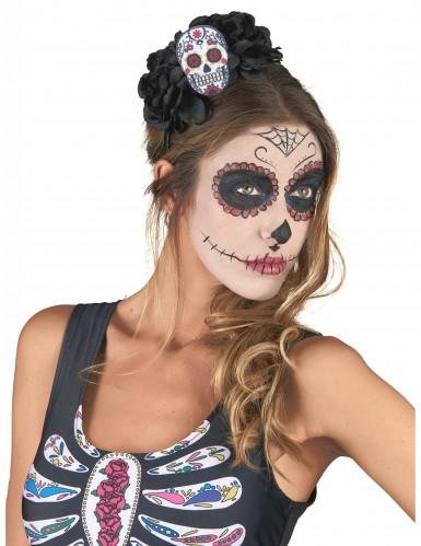 Serre-tête Crâne Multicolore Dia De Los Muertos adulte