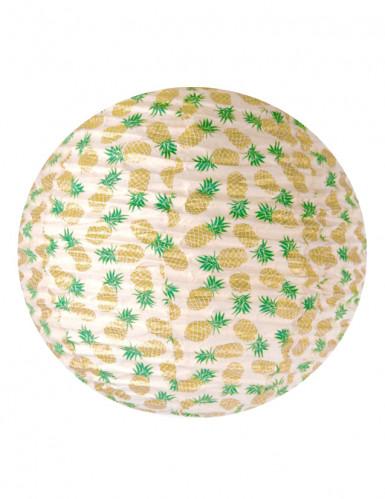 Lanterne faite à la main en lokta Ananas doré 40 cm