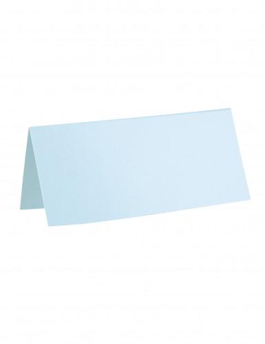 10 Marque-places rectangle bleu clair