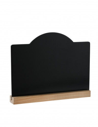 Ardoise noire avec support bois 19,9 x 15 cm