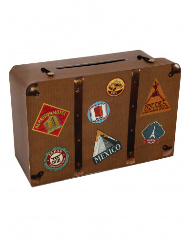 Tirelire en carton Voyage 24 x 16 x 10 cm