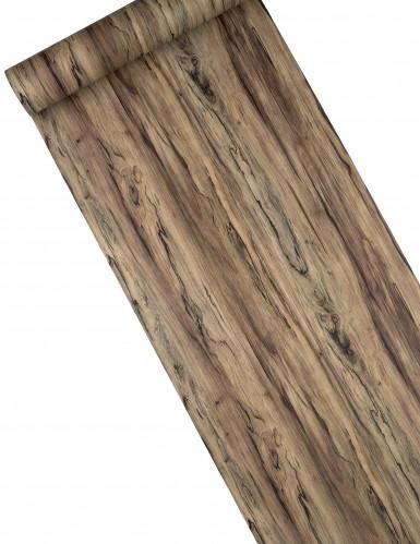 Chemin de table en vinyle effet bois 27 cm x 3 m