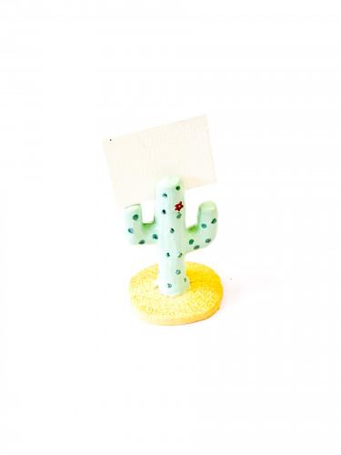 Marque place en résine Cactus 6 cm