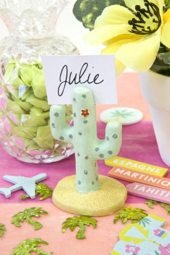 Marque place en résine Cactus 6 cm-1