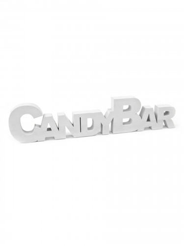 Déco de table en bois Candy Bar 27 cm