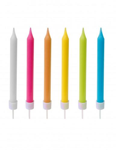 10 Bougies colorées