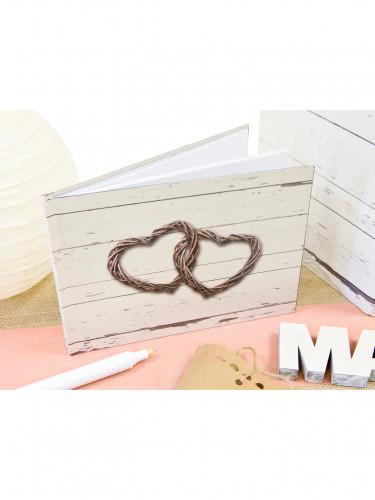 Petit livre d'or Mariage romantique 21.5 x 15.5 cm-1
