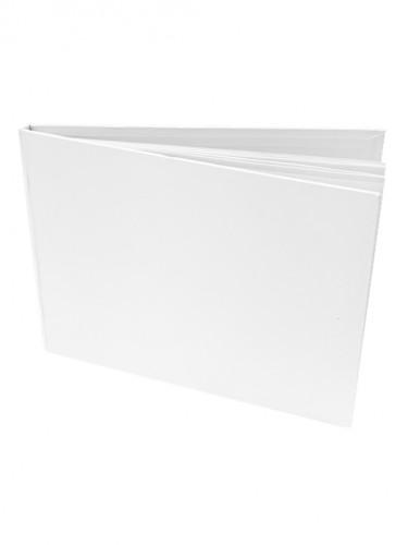 Livre d'or uni blanc satiné 15,5 x 21,5 cm