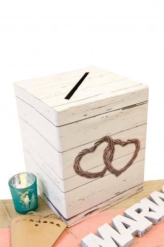 Urne en carton Mariage romantique 20 x 23.5 cm-1