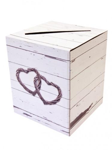 Urne en carton Mariage romantique 20 x 23.5 cm