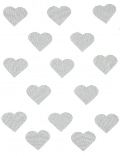 24 Confettis cœurs en lin 5,5 x 4 cm-1