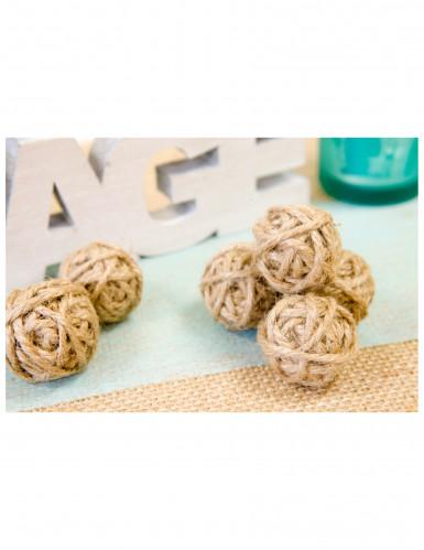 6 Petites boules de corde 3 cm-1