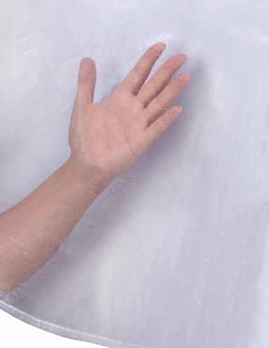 Nappe en organza blanc transparent 150 x 240 cm-1