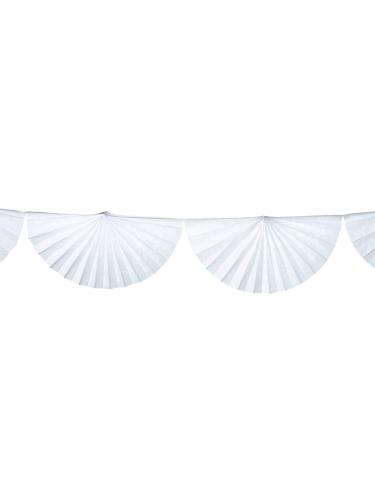 Guirlande éventail blanche