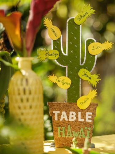 Décoration de table Cactus en métal-2