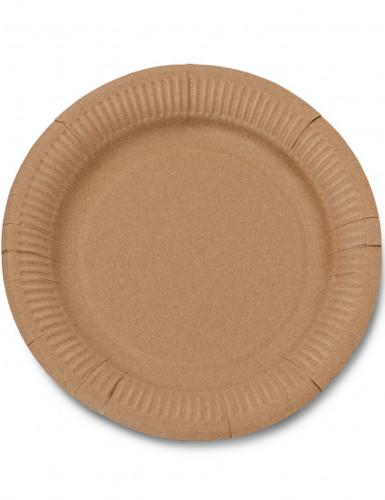 12 Assiettes en carton kraft 23 cm