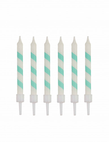 10 Bougies d'anniversaire sorbet menthe