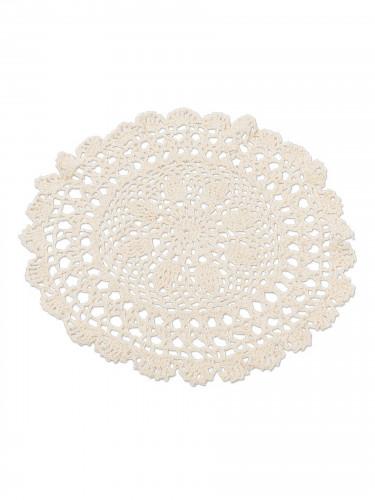 Napperon en crochet ivoire 30 cm
