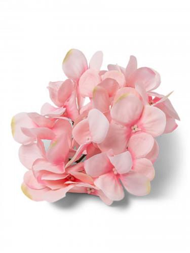 6 Fausses fleurs hortensias roses 12 cm