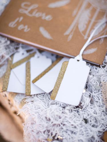 10 Etiquettes blanc et or-1