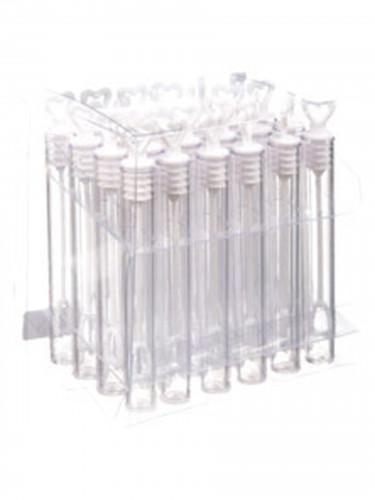 24 Petits flacons coeur bulles de savon 10 cm-1