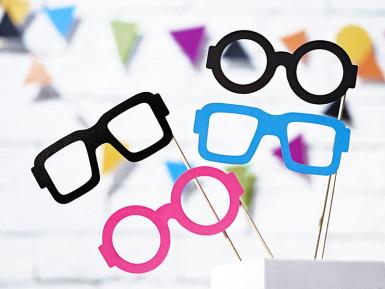 Kit photobooth lunettes 4 pièces-2