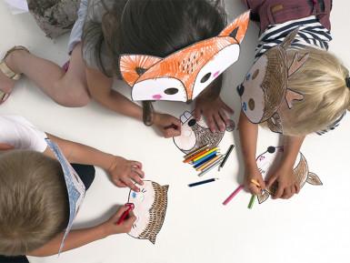 6 Masques à colorier Forêt pour enfant-2