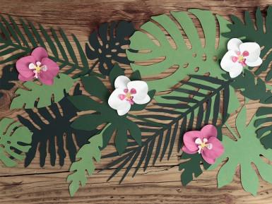 21 Feuilles tropicales en papier Hawaï-1
