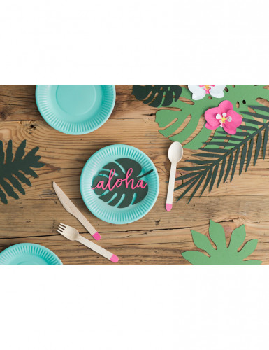 6 Décorations de table Aloha 12,5 cm-1