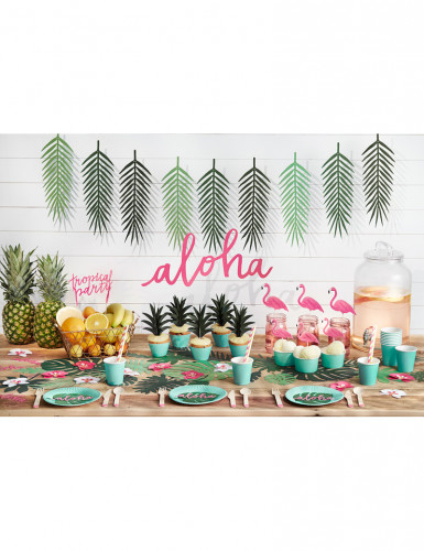 6 Décorations de table Aloha 12,5 cm-2