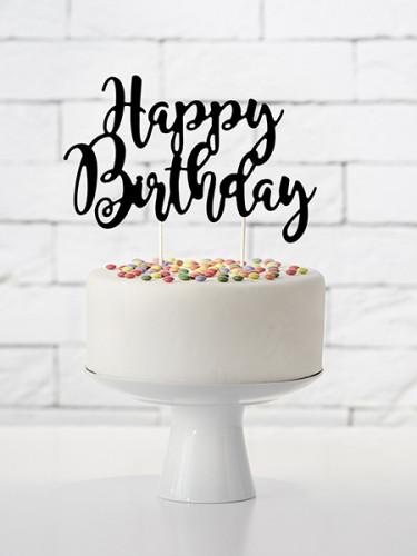 Décoration pour gâteau Happy birthday 23 x 20 cm-1