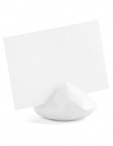 10 Marque-places diamant blanc 3 x 4 cm