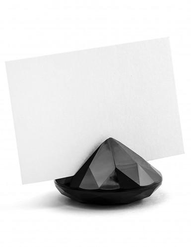 10 Marque-places diamant noir 4 x 3 cm