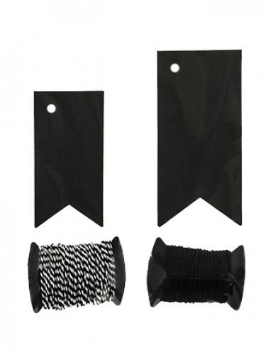 6 Etiquettes fanions noirs-2